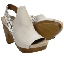 Earthies Positano Sandals - Leather, Platform (For Women) in Ashland Nubuck - Closeouts