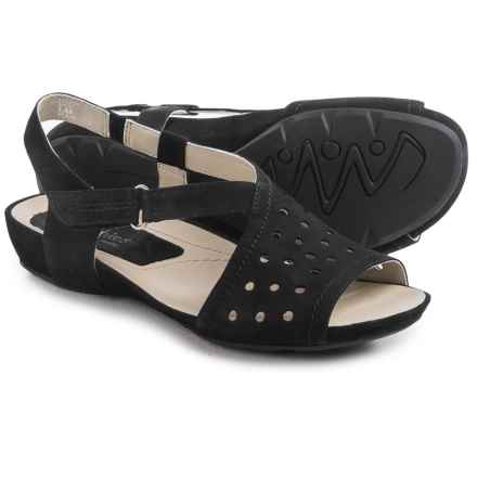 Earthies Razzoli Sandals - Nubuck (For Women) in Black Soft Buck - Closeouts