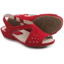 Earthies Razzoli Sandals - Nubuck (For Women) in Bright Red Soft Buck - Closeouts