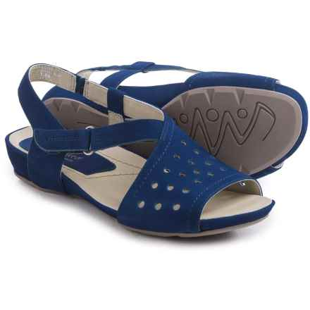 Earthies Razzoli Sandals - Nubuck (For Women) in Royal Blue Soft Buck - Closeouts