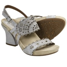 Earthies Rosarito Sandals - Leather (For Women) in Light Grey Nubuck - Closeouts