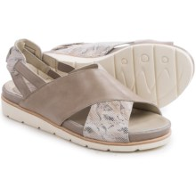 Earthies Santorini Sling-Back Sandals - Leather (For Women) in Grey Soft Calf - Closeouts