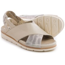 Earthies Santorini Sling-Back Sandals - Leather (For Women) in Off White Soft Calf - Closeouts