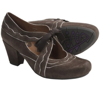 Earthies Sarenza Shoes - Suede, Mary Janes (For Women) in Taupe