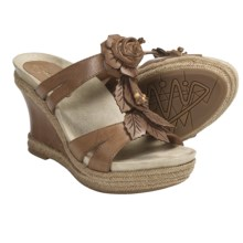 Earthies Semprini Wedge Sandals - Leather (For Women) in Sand Calf - Closeouts