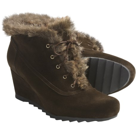Earthies Seriph Ankle Boots - Suede (For Women) in Dark Brown