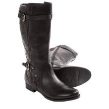 Earthies Sevilla Leather Boots (For Women) in Black Calf - Closeouts