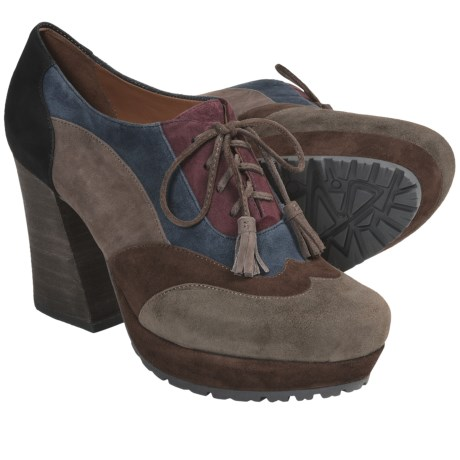 Earthies Skellig Shoes - Suede, Platform (For Women) in Olive Multi Suede