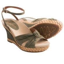Earthies Sonzi Wedge Sandals (For Women) in Fern Nubuck - Closeouts