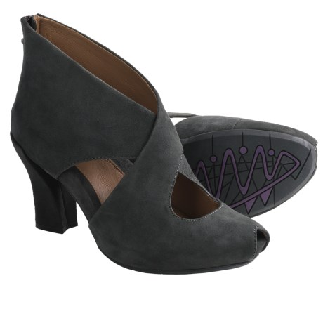 Earthies Syriana Ankle Boots (For Women) in Dark Grey Suede