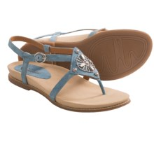 Earthies Tello Thong Sandals (For Women) in Pacific Blue Suede - Closeouts