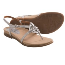 Earthies Tello Thong Sandals (For Women) in Silver Distressed Leather - Closeouts