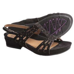 Earthies Tica Sandals - Suede (For Women) in Black Suede