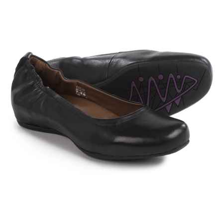 Earthies Tolo Ballet Flats - Leather (For Women) in Black - Closeouts