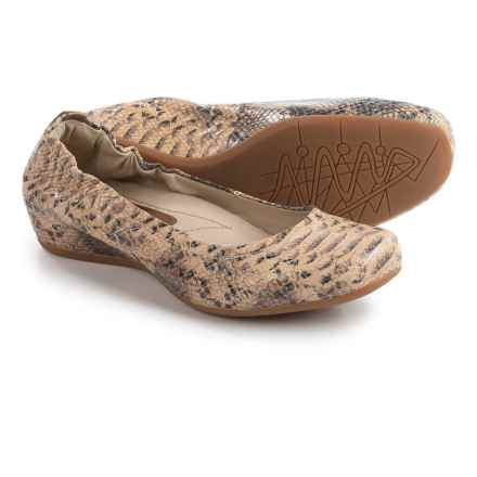 Earthies Tolo Ballet Flats - Leather (For Women) in Brown Multi - Closeouts