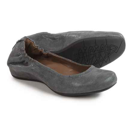 Earthies Tolo Ballet Flats - Leather (For Women) in Dark Grey - Closeouts