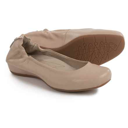 Earthies Tolo Ballet Flats - Leather (For Women) in Tan - Closeouts