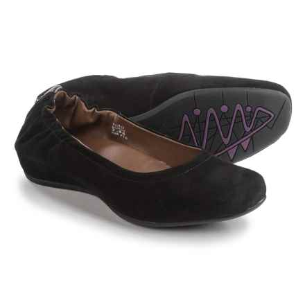 Earthies Tolo Ballet Flats - Suede (For Women) in Black - Closeouts