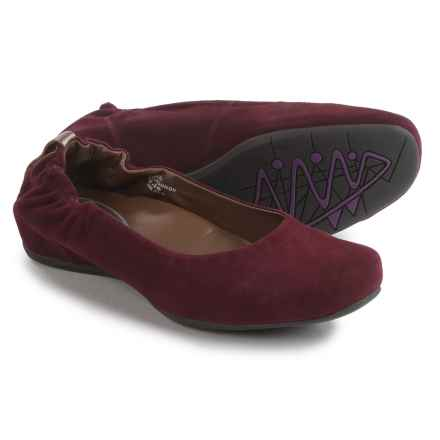 Earthies Tolo Ballet Flats - Suede (For Women) in Burgandy - Closeouts