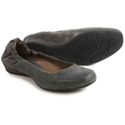 Earthies Tolo Ballet Flats - Suede (For Women) in Dark Grey - Closeouts