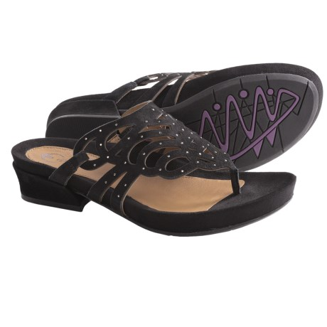 Earthies Toro Sandals - Suede (For Women) in Black Suede
