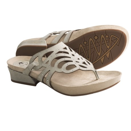 Earthies Toro Sandals - Suede (For Women) in Crystal Suede