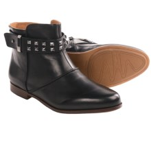 Earthies Treano Ankle Boots (For Women) in Black Calf Leather - Closeouts