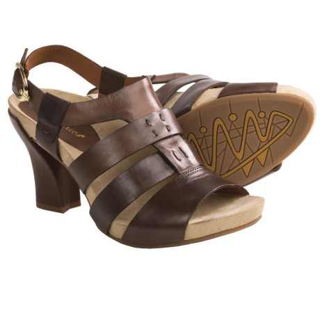 Earthies Ventura Sandals - Leather (For Women) in Ginger Root Calf Leather