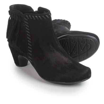 Earthies Zurich Ankle Boots - Suede (For Women) in Black - Closeouts