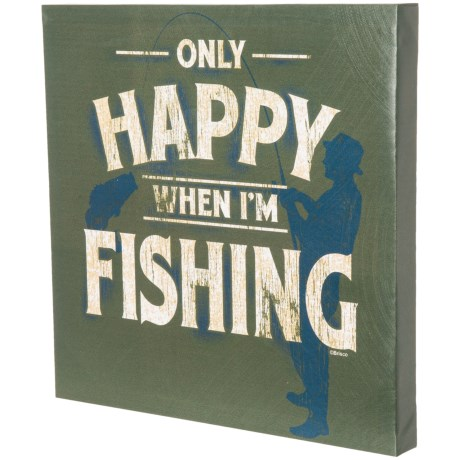"East Coast Graphics 16x16"" ""Only Happy When I'm Fishing"" Print in See Photo"