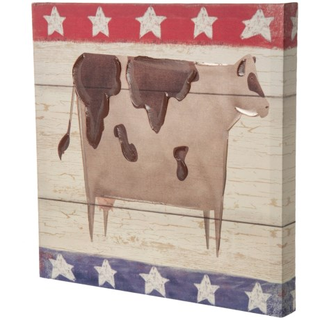 "East Coast Graphics 16x16"" Americana Cow Print in See Photo"