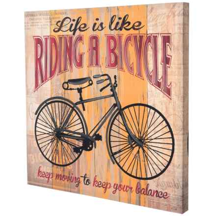 "East Coast Graphics 24x24"" ""Life is Like Riding a Bike"" Print in See Photo - Closeouts"