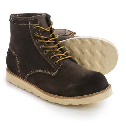 Eastland Barron Plain Toe Boots - Suede (For Men) in Olive Suede - Closeouts