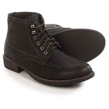 Eastland Brice Moc-Toe Boots - Suede (For Men) in Black - Closeouts