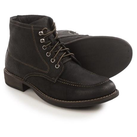 Eastland Brice Moc-Toe Boots - Suede (For Men) in Black