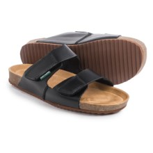 Eastland Caleb Slide Sandals - Leather (For Men) in Black - Closeouts