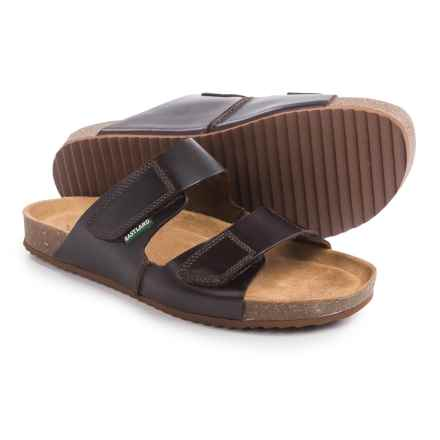 Eastland Caleb Slide Sandals - Leather (For Men) in Dark Brown - Closeouts