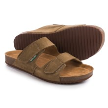 Eastland Caleb Slide Sandals - Leather (For Men) in Khaki Suede - Closeouts