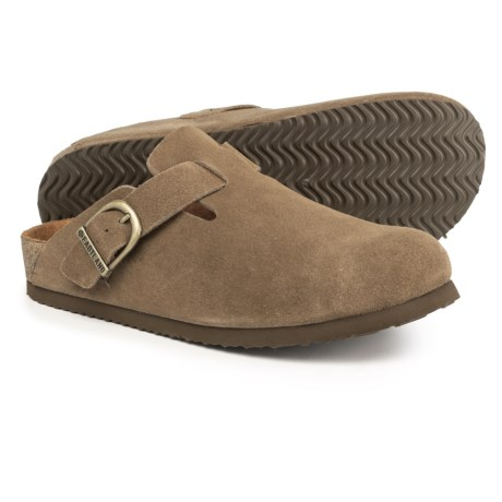 cfc65d8c0 Eastland Gina Cork Footbed Clogs (For Women) in Kahki Suede