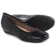 Eastland Hannah Wedge Shoes - Leather (For Women) in Black - Closeouts