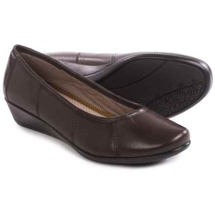 Eastland Hannah Wedge Shoes - Leather (For Women) in Brown - Closeouts