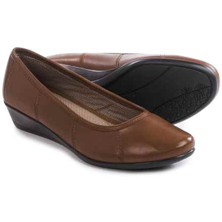 Eastland Hannah Wedge Shoes - Leather (For Women) in Chestnut - Closeouts
