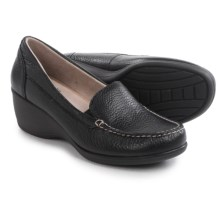 Eastland Iris Wedge Shoes - Leather, Slip-Ons (For Women) in Black - Closeouts