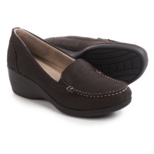 Eastland Iris Wedge Shoes - Leather, Slip-Ons (For Women) in Coffee - Closeouts