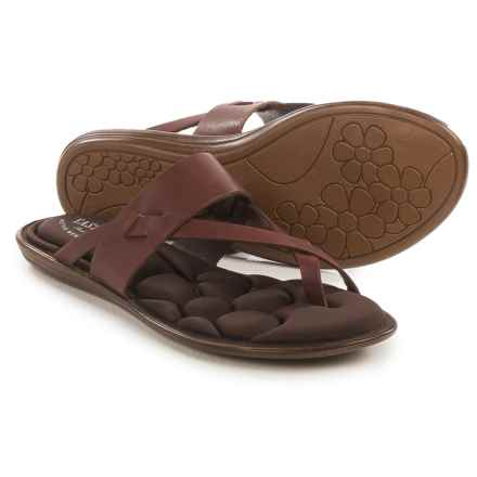 Eastland Misty Flip-Flops - Leather (For Women) in Cinnamon - Closeouts