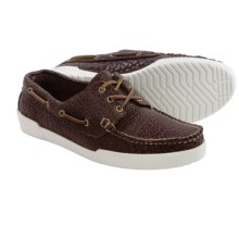 Eastland Mt. Desert USA Boat Shoes - Bison Leather (For Men) in Chocolate - Closeouts