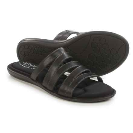 Eastland Phoebe Slide Sandals - Leather (For Women) in Black - Closeouts
