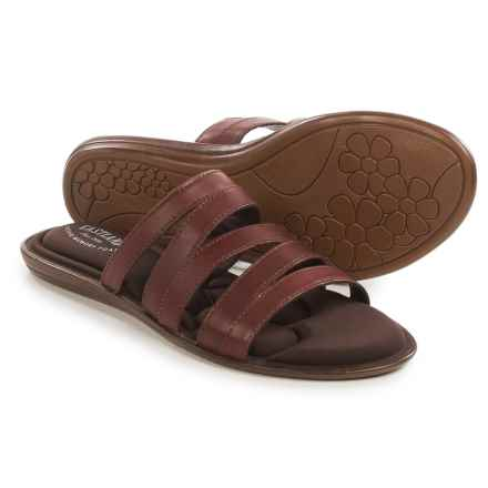 Eastland Phoebe Slide Sandals - Leather (For Women) in Cinnamon - Closeouts