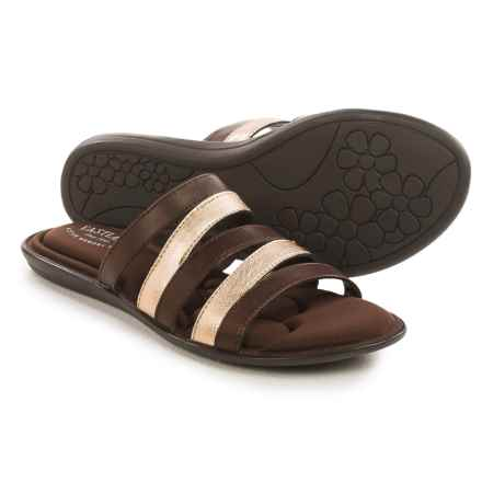 Eastland Phoebe Slide Sandals - Leather (For Women) in Gold/Brown - Closeouts