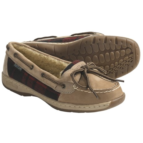Eastland Sunrise Shoes - Leather, Fleece Lining (For Women) in Tan/Red Sherpa